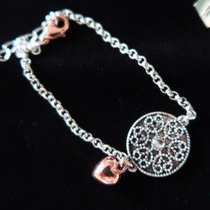 Jewel Mint Bracelet (Be The Change) SIlver Tone